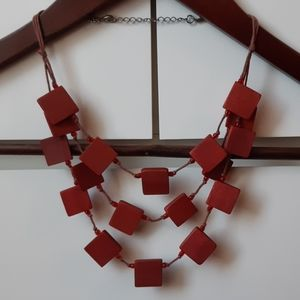 VINTAGE Geometric 3 Tier Statement Necklace